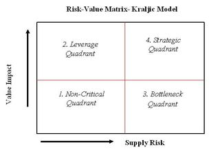 Risk-Value Matrix Kraljic Model