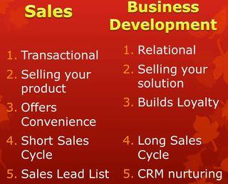 Sales vs Business Development- StratoServe