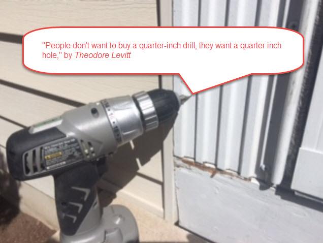 Drill bit quote- Theodore Levitt-StratoServe